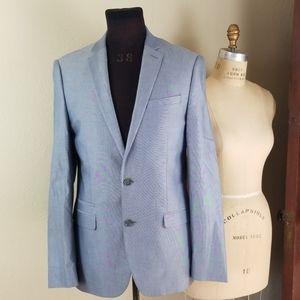40L Express sportcoat blazer silvery blue color